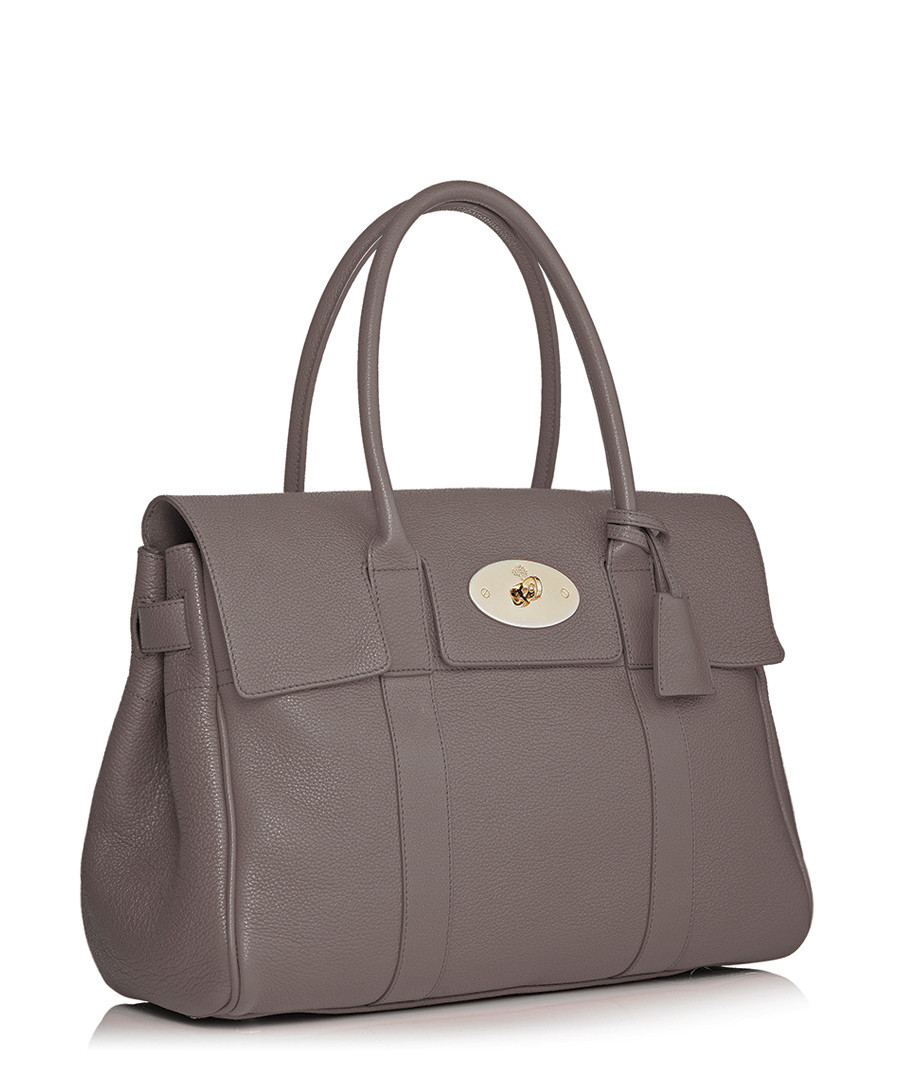 fb9a7bdc63 ... Bayswater small mole grey leather bag Sale - Mulberry ...