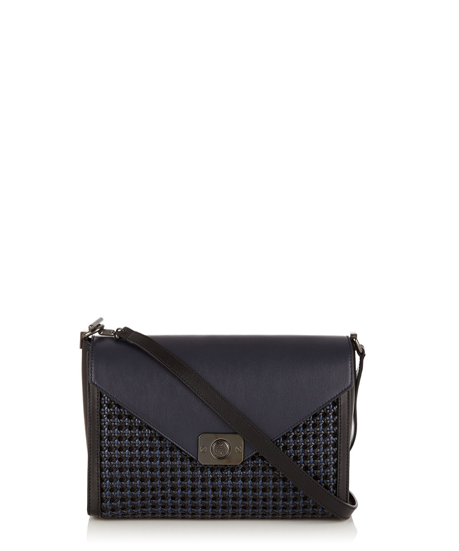 new style bayswater midnight leather weave bag sale mulberry ada73 42a03 57df21bf90d06