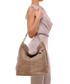 Taupe leather braided shoulder bag Sale - anna morellini Sale