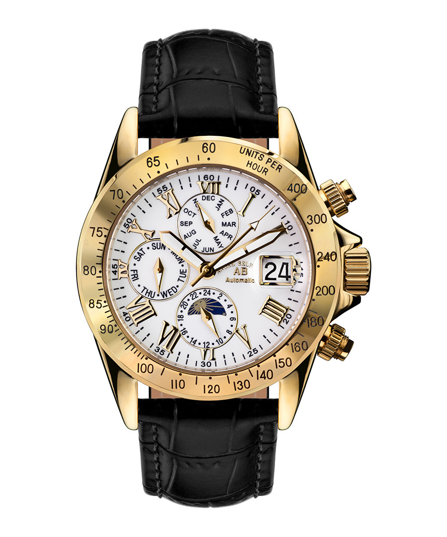Le Capitaine gold-tone & black watch Sale - andre belfort