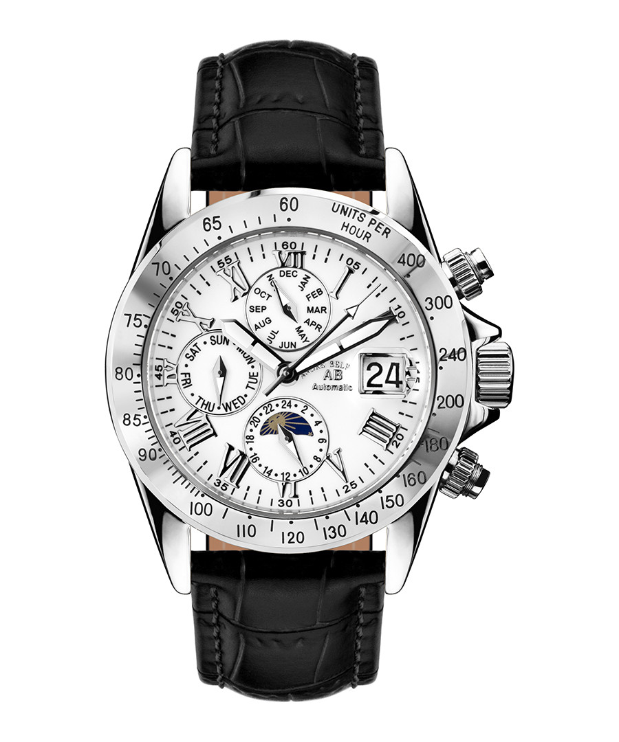 Le Capitaine black & silver-tone watch Sale - andre belfort
