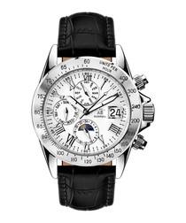 Le Capitaine black & silver-tone watch
