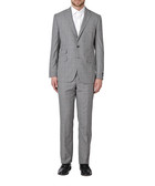 2pc Enthoven charcoal pure wool suit