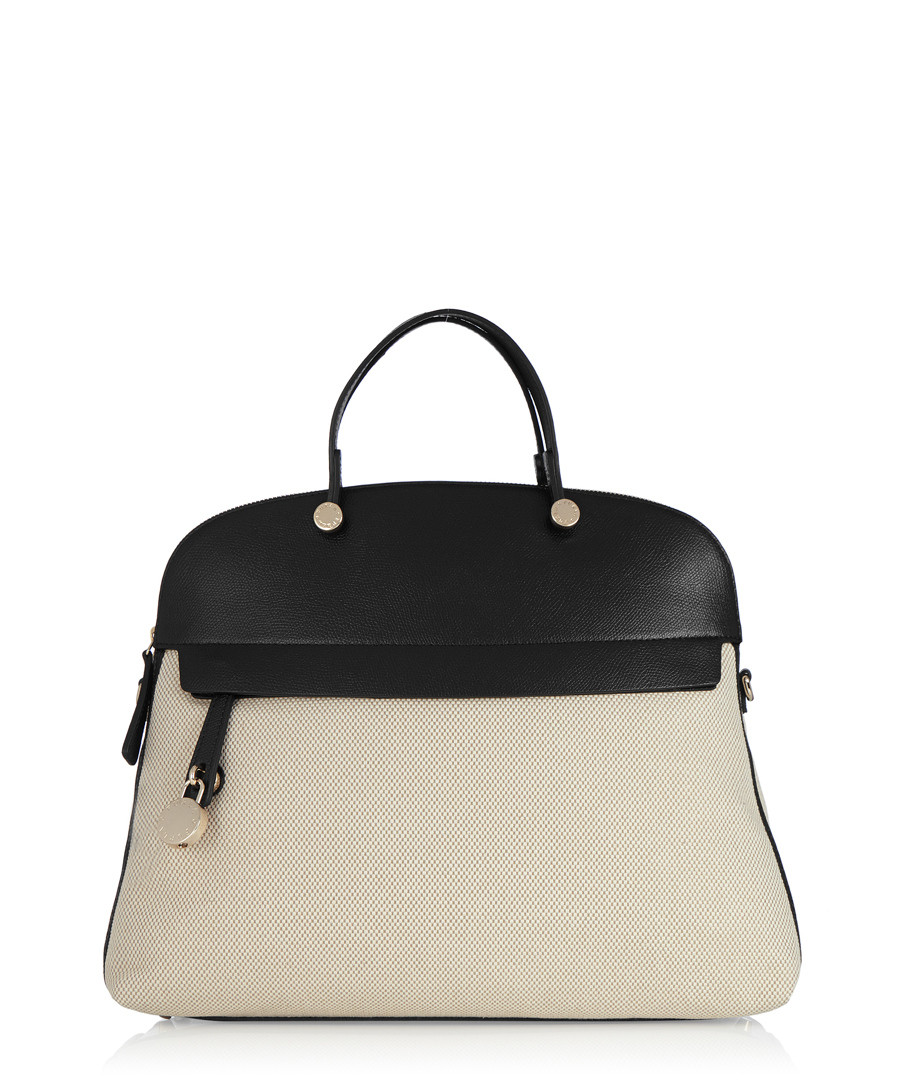 Piper Large Dome onyx grab bag Sale - FURLA