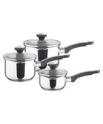 Image of 3pc straining saucepan set