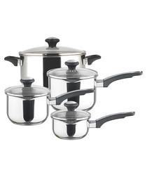 Image of 4pc straining pan & stockpot set