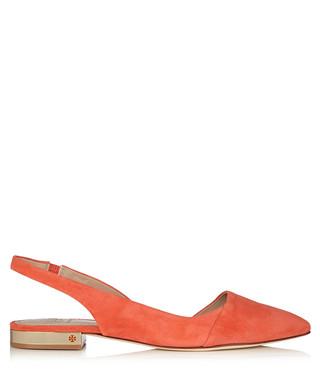d21a8d4174da46 Poppy coral suede sling back shoes Sale - Tory Burch Sale