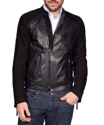 Men's Fausto black leather jacket