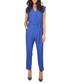 Royal blue wrap V-neck jumpsuit Sale - grazia Sale