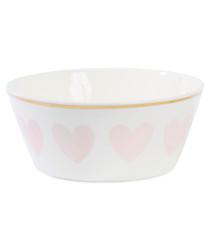 Image of Rose heart low ceramic bowl