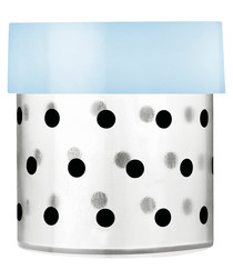 Image of Eat Me small light blue lid canister