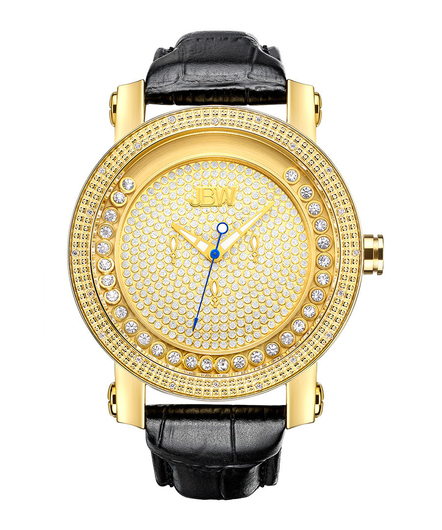 Hendrix 18ct gold-plated diamond watch Sale - jbw