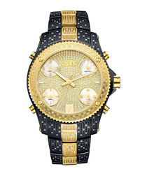 Jet Setter black & gold-plated watch