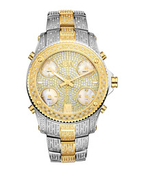 Jet Setter silver & gold-plated watch