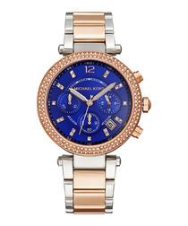 Parker rose gold-tone steel watch