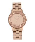 Marci rose gold-tone & crystal watch