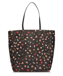 Leila black floral print shoulder bag