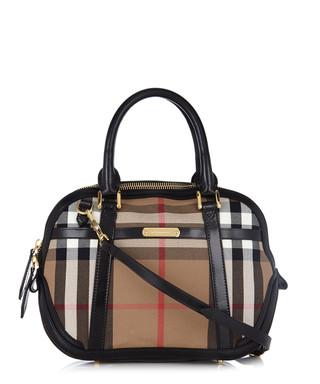 Burberry. Orchard black leather trim grab bag 9228a3ed1d085