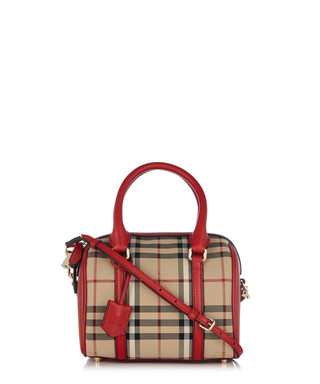 Armour red leather trim grab bag Sale - Burberry Sale 81239fa85d6d5