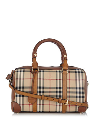 Armour brown leather trim grab bag Sale - Burberry Sale 41cdd4b89109b