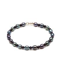 9ct gold & peacock pearl bracelet