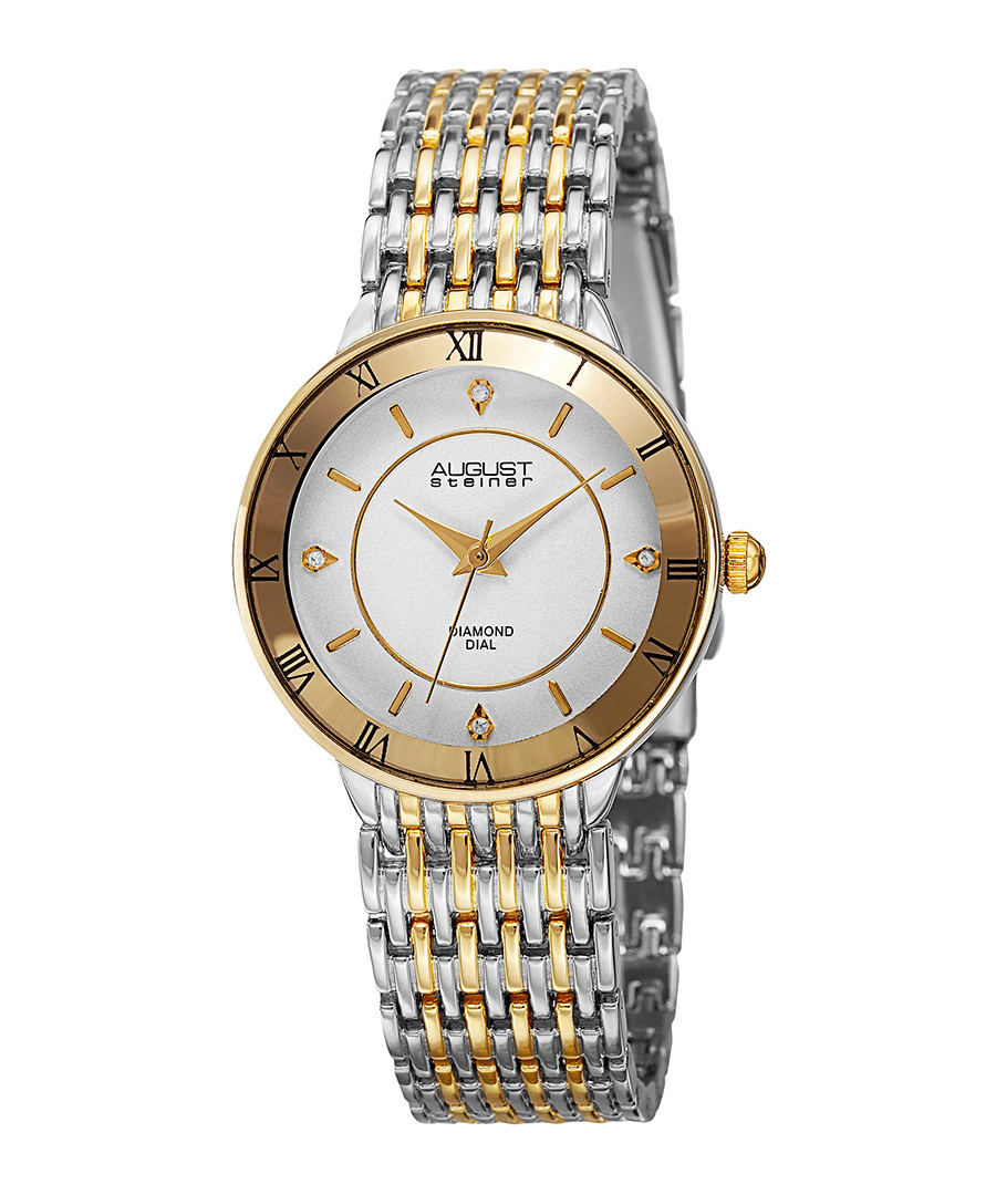 Dual-tone diamond watch Sale - August Steiner