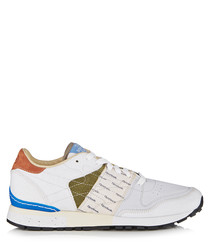 Men's white leather blend sneakers