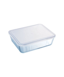 Image of Clear glass roasting storage dish 1.5L