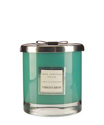 Green tea & bergamot twin wick candle