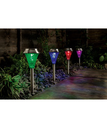 Image of 4pc multi-coloured border post lights