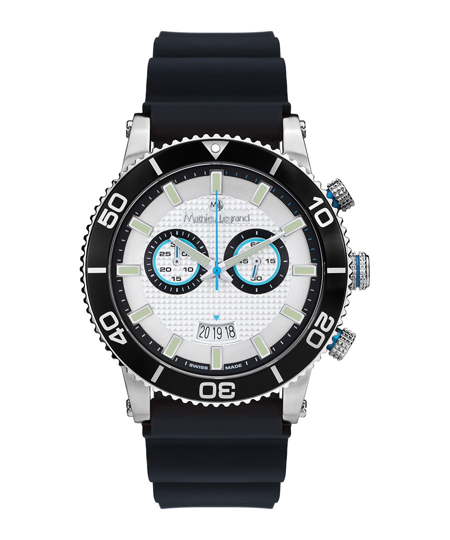 Immergée black & silver-tone watch Sale - mathieu legrand