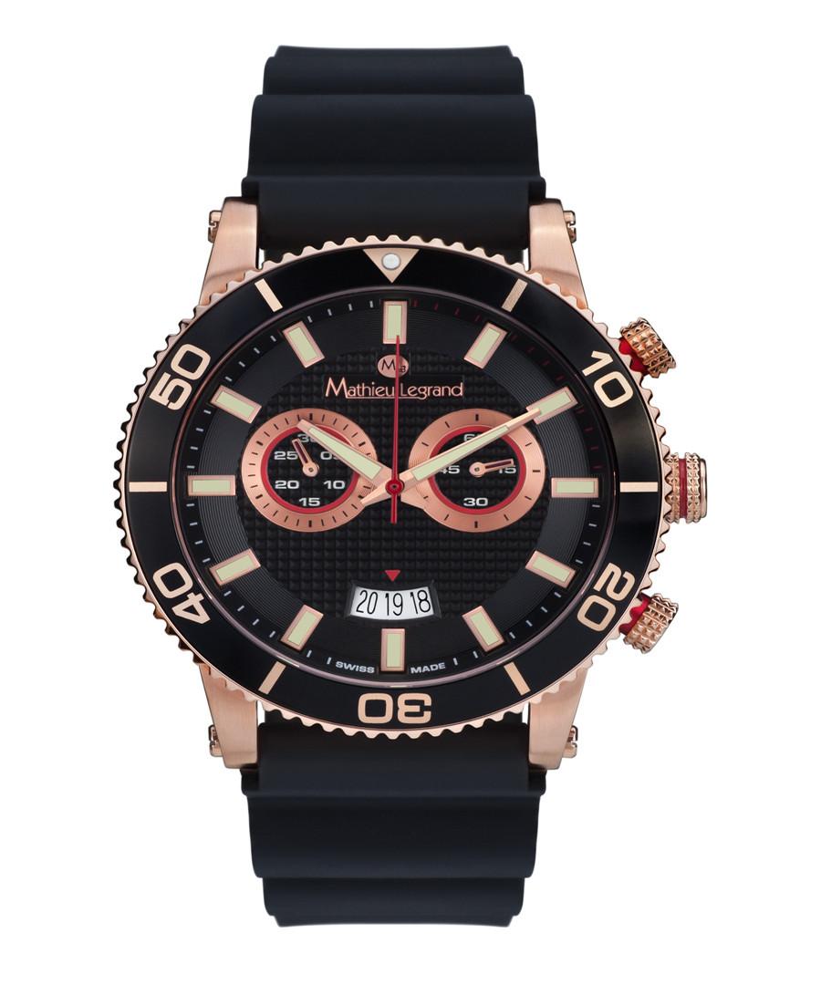 Immergée black & rose gold-tone watch Sale - mathieu legrand