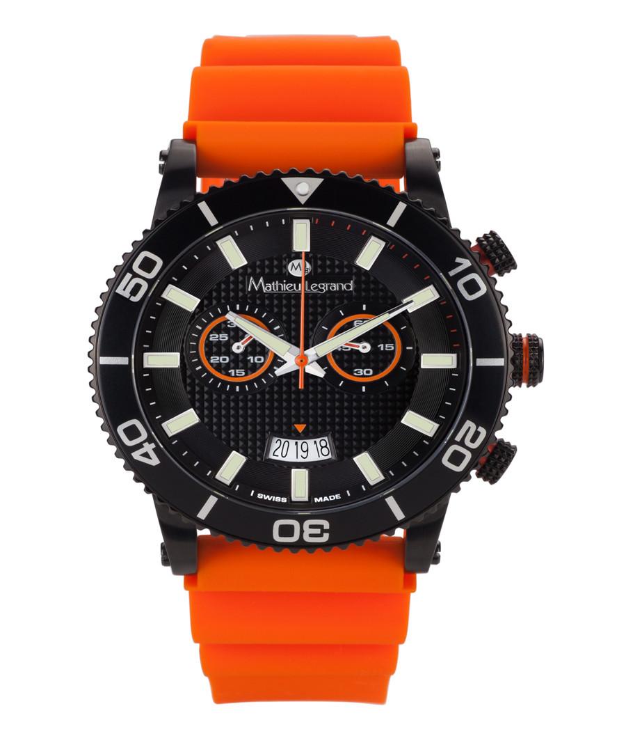Immergée orange & black watch Sale - mathieu legrand