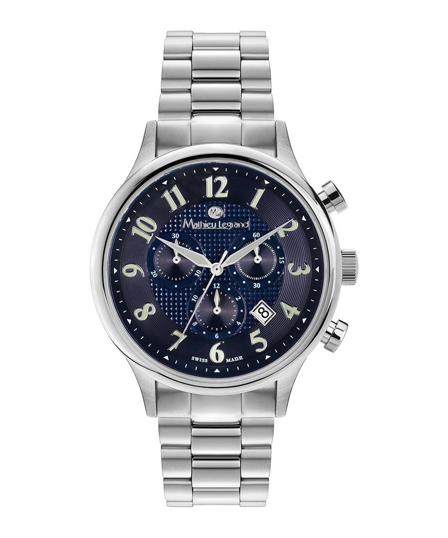 Métropolitain silver-tone & blue watch Sale - mathieu legrand