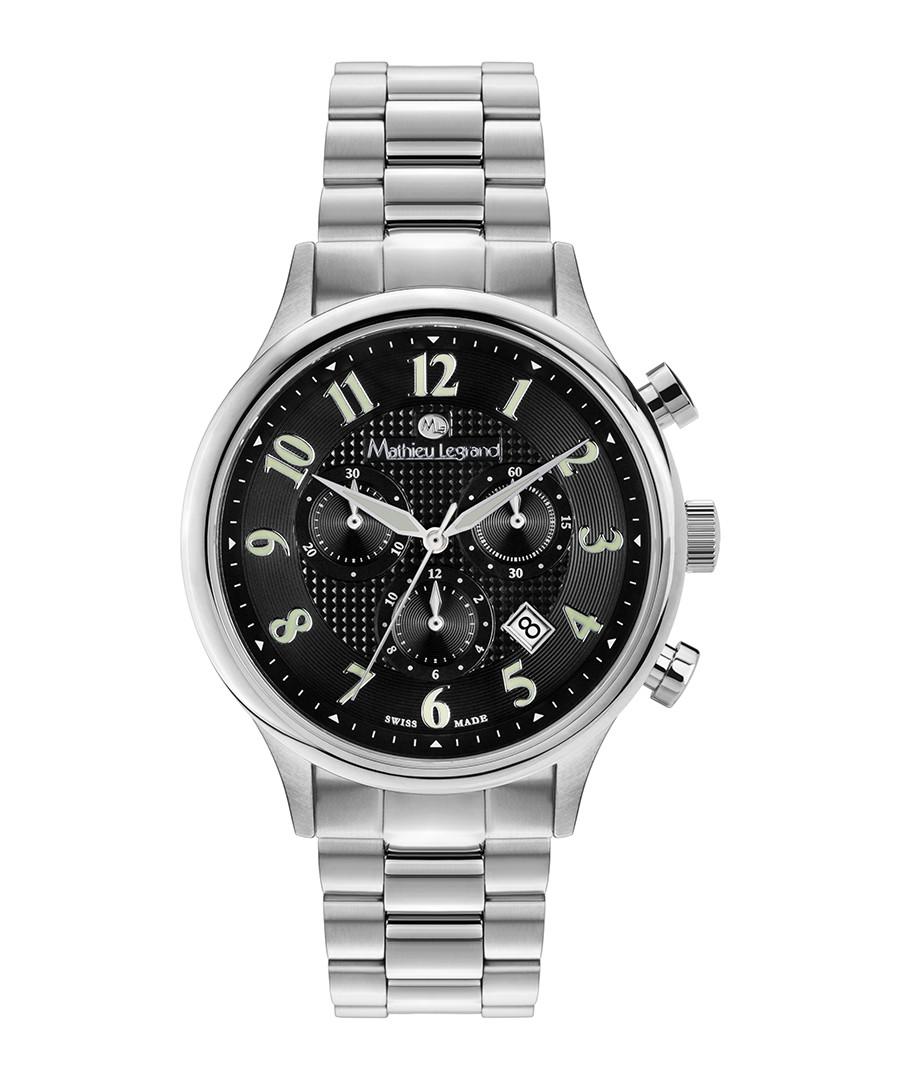 Métropolitain silver-tone & black watch Sale - mathieu legrand