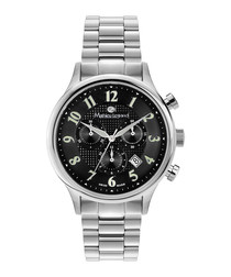 Métropolitain silver-tone & black watch