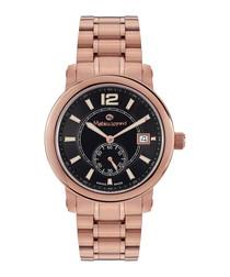 Bolide rose gold-tone & black watch
