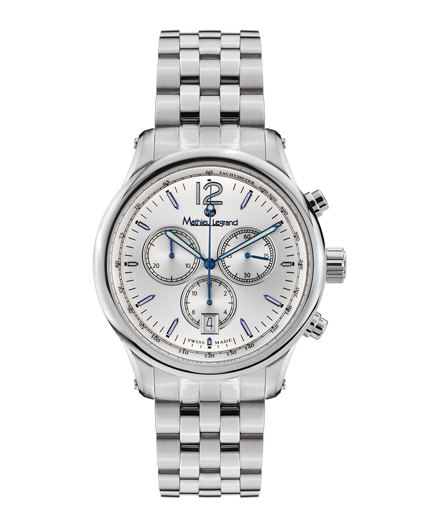 Classique silver-tone steel watch Sale - mathieu legrand