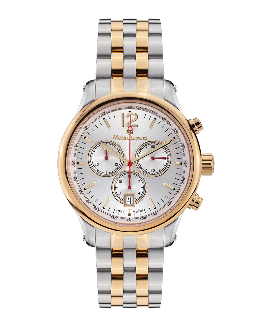 Classique gold-tone stripe steel watch Sale - mathieu legrand