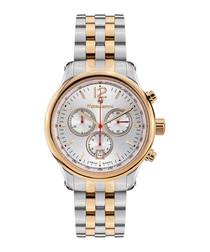 Classique gold-tone stripe steel watch