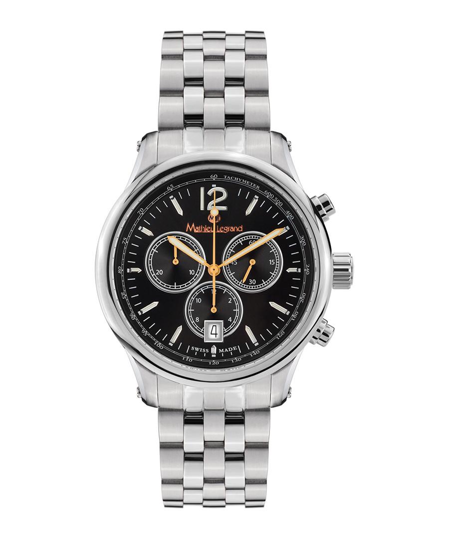 Classique silver-tone & black watch Sale - mathieu legrand