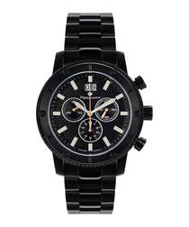 Tableau du Bord black steel watch