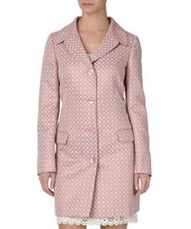 Pink cotton blend pattern coat
