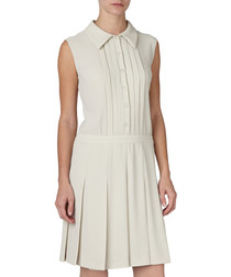 Stone pleated dress