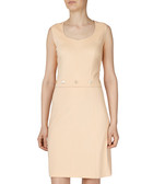 Pale peach button detail dress