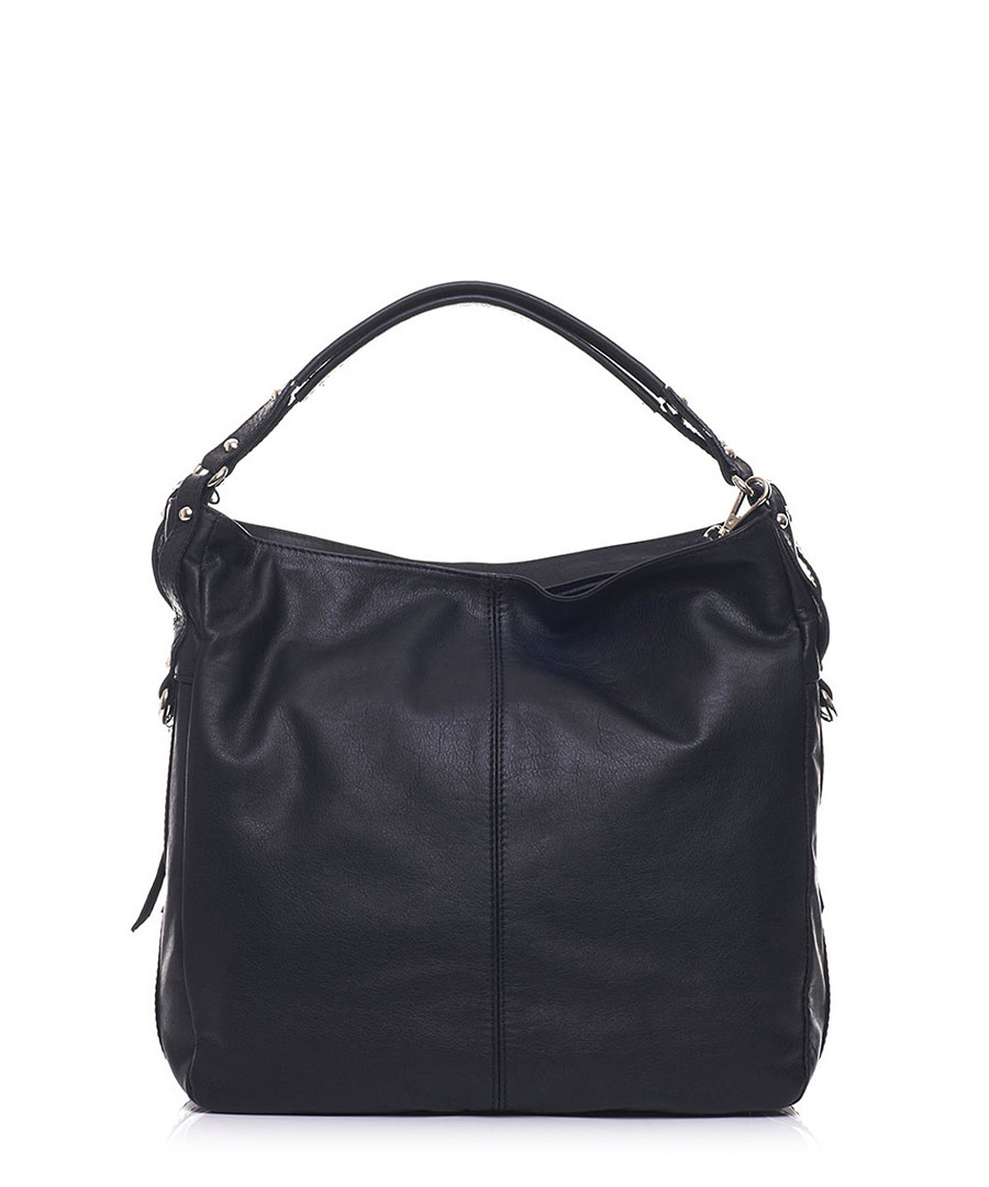 Black leather twin-strap shoulder bag Sale - anna morellini