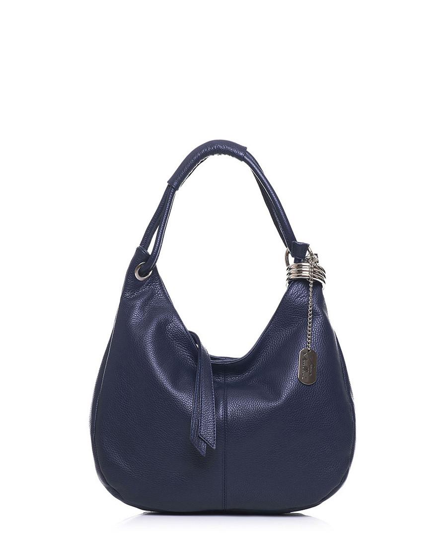Discount Navy leather slouch shoulder bag   SECRETSALES 3e39c17656