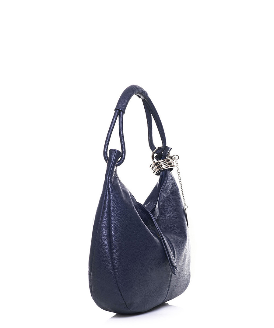 ... Navy leather slouch shoulder bag Sale - anna morellini Sale 1905ba32f0