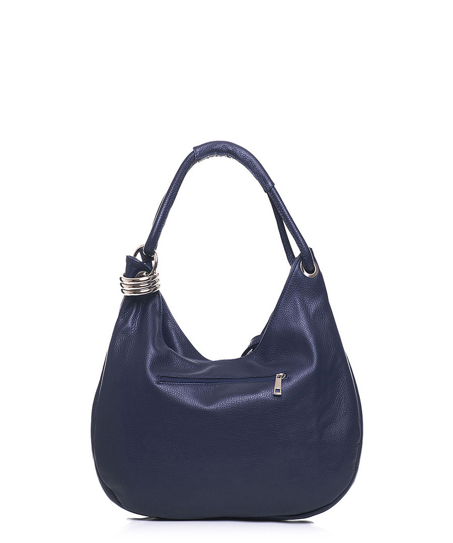 ... Navy leather slouch shoulder bag Sale - anna morellini Sale ... 142c5e5c68