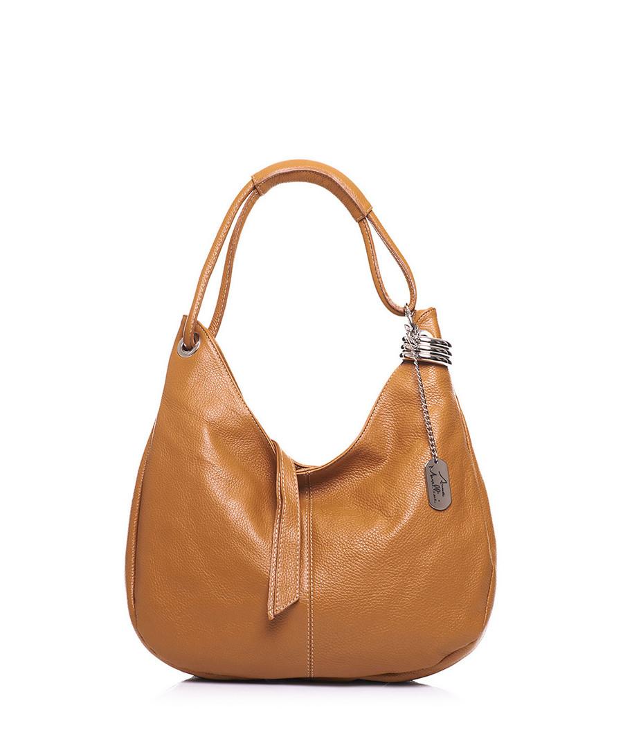 Tan leather slouch shoulder bag Sale - Anna Morellini